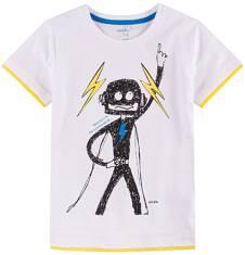 T-shirt z kontrastowym wykończeniem dla chłopca 9-13 lat C71G618_1