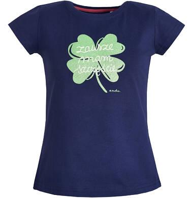 Endo - Bluzka z krótkim rękawem dla dziewczynki 3-8 lat D81G003_1