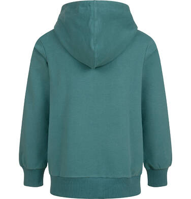 Endo - Rozpinana bluza z kapturem dla dziewczynki, zielona, 9-13 lat D04C049_1 6