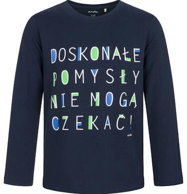 Endo - T-shirt z długim rękawem dla chłopca, granatowy, 5-8 lat C03G196_1 7
