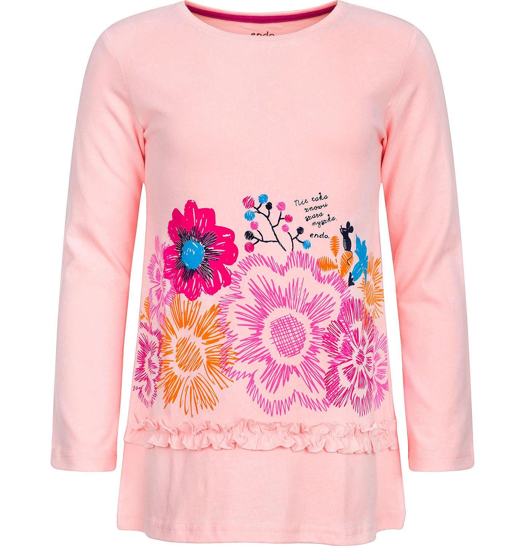 Endo - T-shirt z długim rękawem dla dziewczynki 3-8 lat D82G066_2