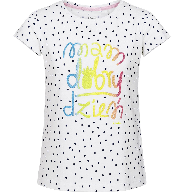 Endo - Bluzka z krótkim rękawem dla dziewczynki 9-13 lat D91G525_1