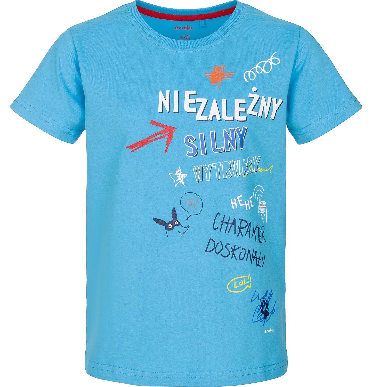 Endo - T-shirt z krótkim rękawem dla chłopca 3-8 lat C91G048_1