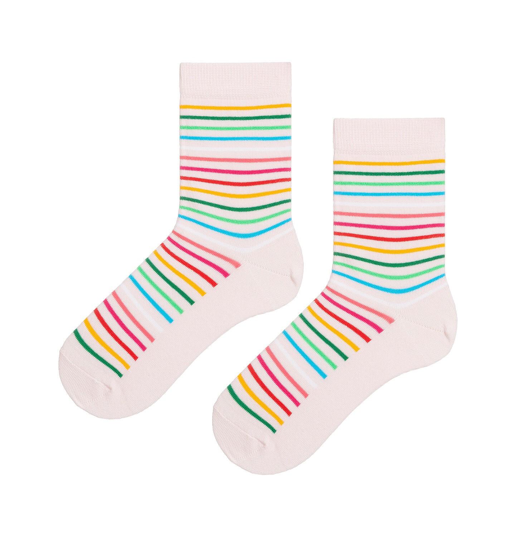 Endo - Kolorowe skarpetki dziecięce w paski D08P013_1