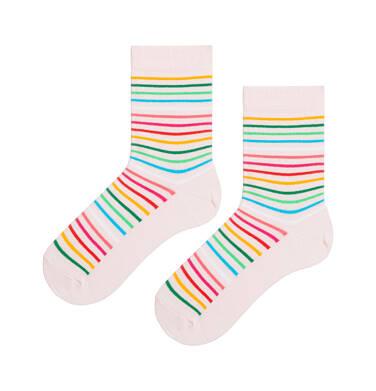 Endo - Kolorowe skarpetki dziecięce w paski D08P013_1 126