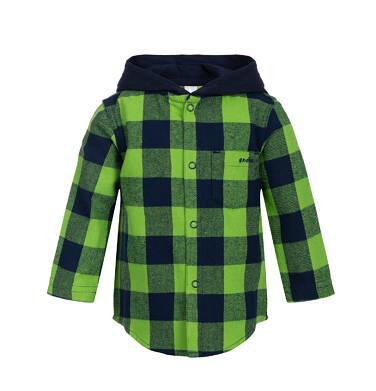 Endo - Koszula flanelowa z kapturem dla dziecka 0-3 lata N82F002_2