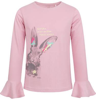 Endo - Bluzka z długim rękawem dla dziewczynki, z zającem, rózowa, 2-8 lat D04G020_1 24