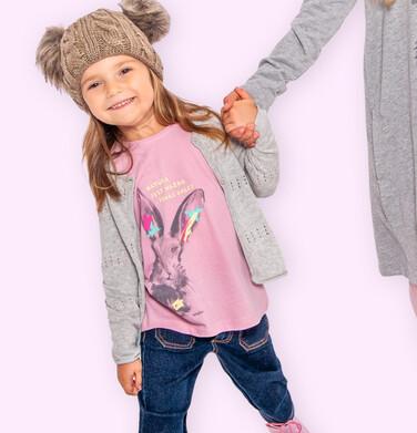 Endo - Bluzka z długim rękawem dla dziewczynki, z zającem, rózowa, 2-8 lat D04G020_1 27