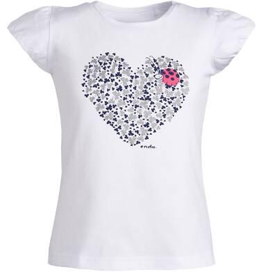 Endo - Bluzka z krótkim rękawem dla dziewczynki 3-8 lat D81G012_1