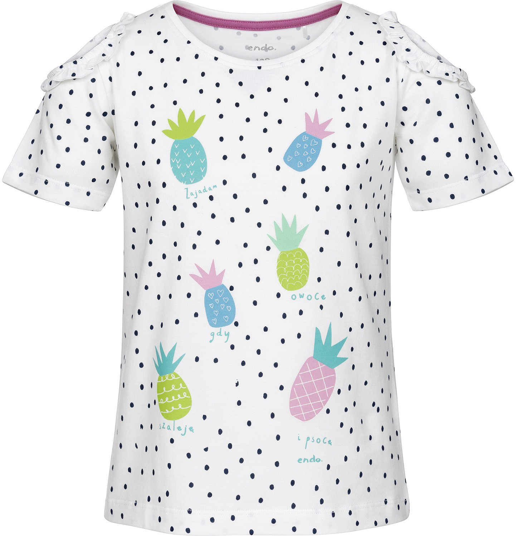 Endo - Bluzka z krótkim rękawem dla dziewczynki 3-8 lat D91G028_1