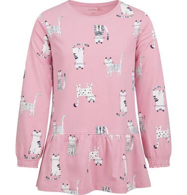Endo - Tunika z długim rękawem dla dziewczynki, deseń w koty, 2-8 lat D04T013_1 20