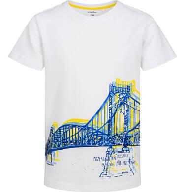 Endo - T-shirt z krótkim rękawem dla chłopca, z mostem, biały, 2-8 lat C05G137_1 2