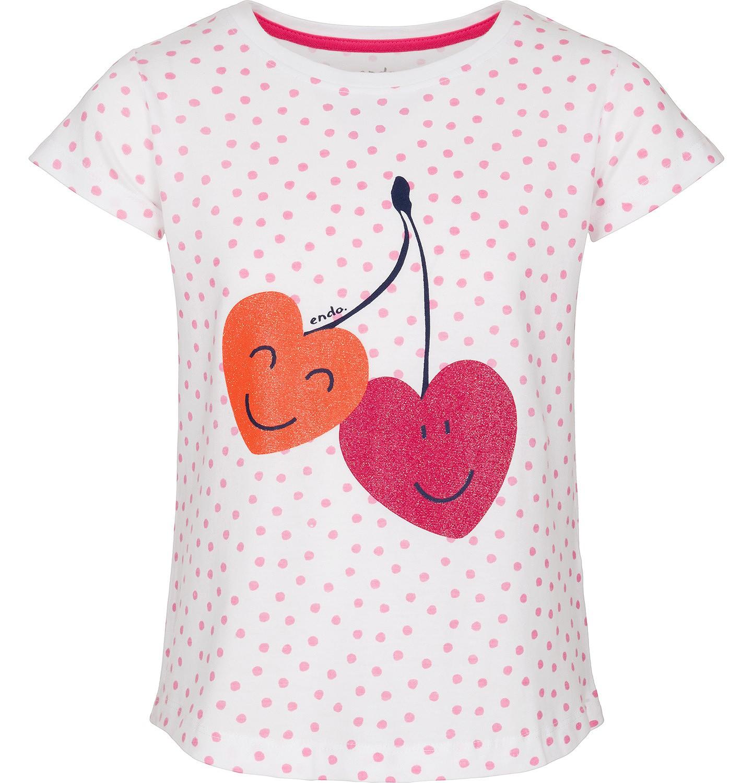 Endo - Bluzka z krótkim rękawem dla dziewczynki 3-8 lat D91G035_1