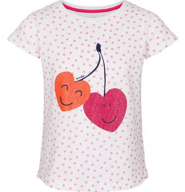 Bluzka z krótkim rękawem dla dziewczynki 3-8 lat D91G035_1