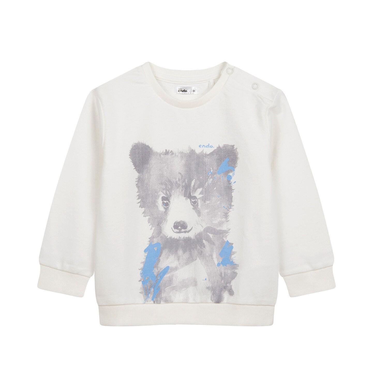 Endo - Bluza dla dziecka do 2 lat, z misiem, porcelanowa N04C027_1