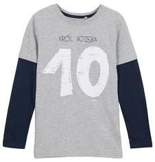 T-shirt z długim rękawem dla chłopca 9-12 lat C62G531_1