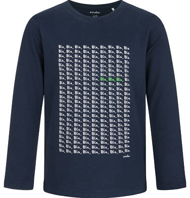 Endo - T-shirt z długim rękawem dla chłopca, granatowy, 5-8 lat C03G206_1 17
