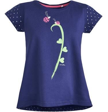 Endo - Tunika z krótkim rękawem dla dziewczynki 3-8 lat D81G022_1