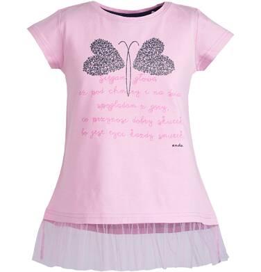 Endo - Tunika z tiulową falbanką dla dziewczynki 3-8 lat D81G024_1