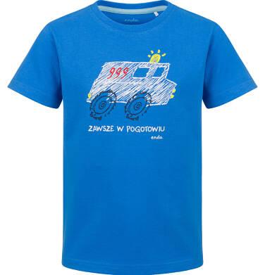 Endo - T-shirt z krótkim rękawem dla chłopca, z pogotowiem, niebieski, 2-8 lat C03G151_1 25