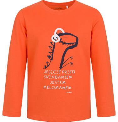 Endo - T-shirt z długim rękawem dla chłopca, z dinozaurem, pomarańczowy, 2-8 lat C03G208_1 3