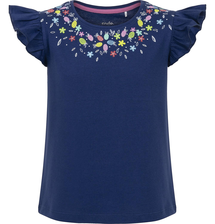 Endo - Bluzka z krótkim rękawem dla dziewczynki 3-8 lat D91G037_2