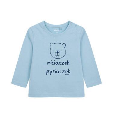 Endo - T-shirt z długim rękawem dla dziecka do 2 lat, z misiem, niebieski N04G056_1 18