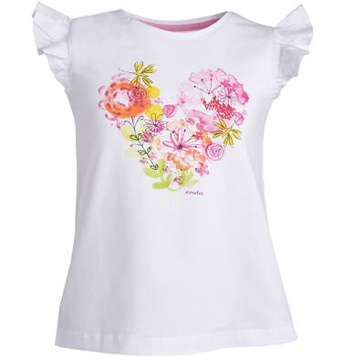 Endo - Bluzka z krótkim rękawem dla dziewczynki 3-8 lat D81G100_1