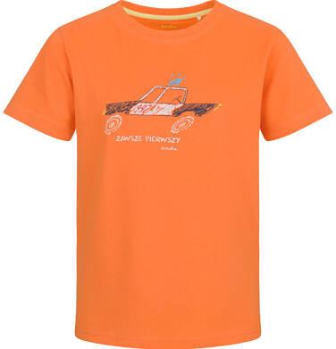 Endo - T-shirt z krótkim rękawem dla chłopca, z policją, pomarańczowy, 2-8 lat C03G153_1