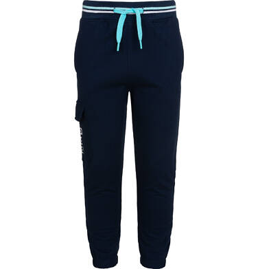 Endo - Spodnie dresowe dla chłopca, z dodatkową kieszenią, granatowe, 2-8 lat C05K025_1,1