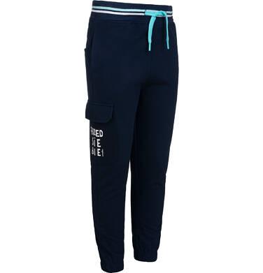 Endo - Spodnie dresowe dla chłopca, z dodatkową kieszenią, granatowe, 2-8 lat C05K025_1,2