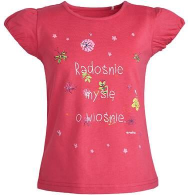 Endo - Bluzka z krótkim rękawem dla dziewczynki 3-8 lat D81G101_1