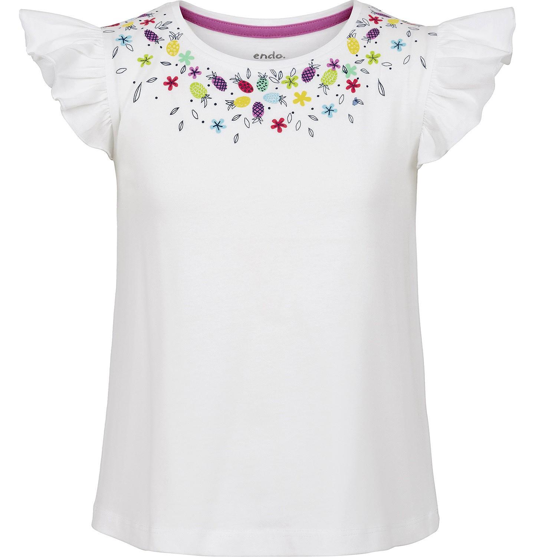 Endo - Bluzka z krótkim rękawem dla dziewczynki 3-8 lat D91G037_3