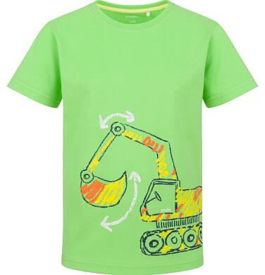 Endo - T-shirt z krótkim rękawem dla chłopca, z koparką, zielony, 2-8 lat C03G154_1 34