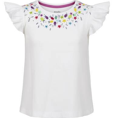Bluzka z krótkim rękawem dla dziewczynki 9-13 lat D91G537_3
