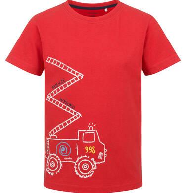 Endo - T-shirt z krótkim rękawem dla chłopca, ze strażą pożarną, czerwony, 2-8 lat C03G155_1 29
