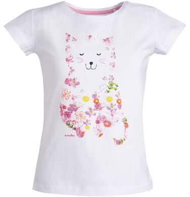 Endo - Bluzka z krótkim rękawem dla dziewczynki 3-8 lat D81G103_1