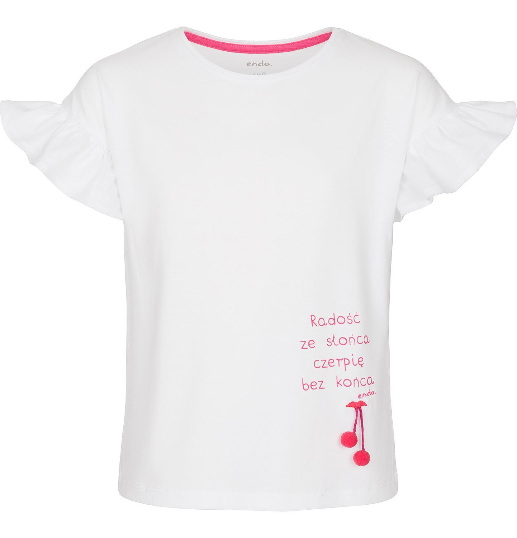 Endo - Bluzka z krótkim rękawem dla dziewczynki 3-8 lat D91G040_1