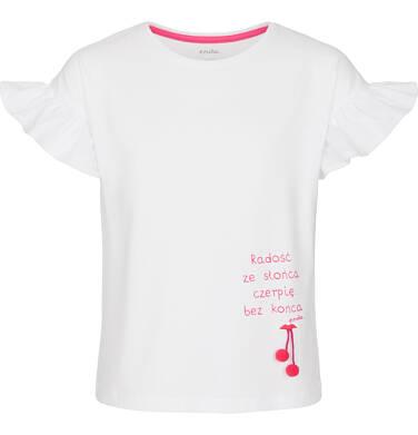 Bluzka z krótkim rękawem dla dziewczynki 9-13 lat D91G540_1