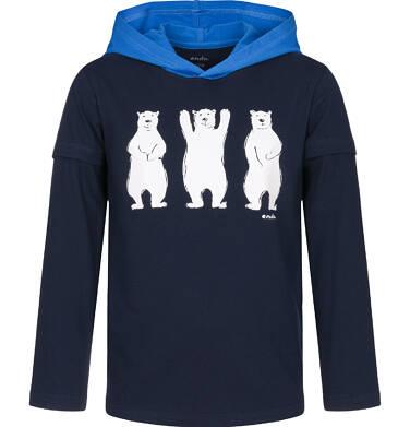 Endo - Koszulka z kapturem i długim rękawem dla chłopca 3-8 lat C92G094_1