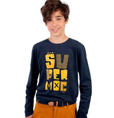 Endo - T-shirt z długim rękawem dla chłopca, granatowy, 9-13 lat C03G681_1 19