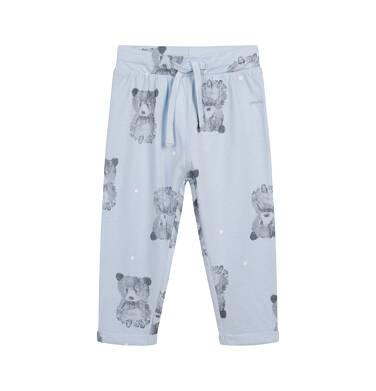 Spodnie dresowe dla dziecka do 2 lat, niebieskie N04K014_1
