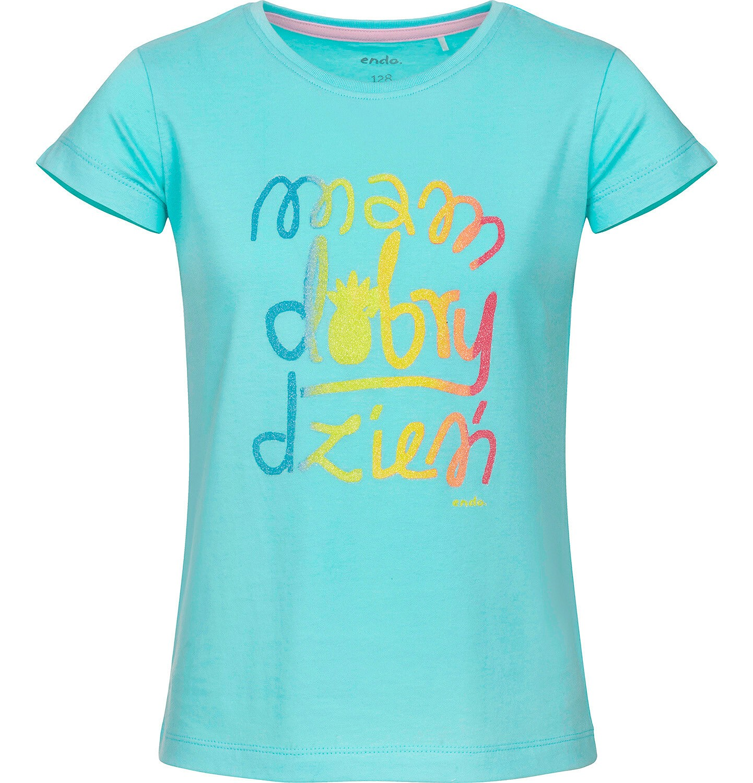 Endo - Bluzka z krótkim rękawem dla dziewczynki 3-8 lat D91G059_1