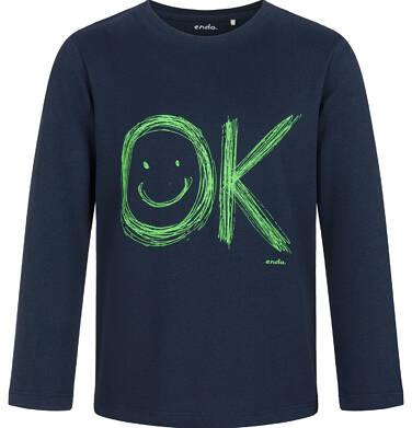 Endo - T-shirt z długim rękawem dla chłopca, granatowy, 9-13 lat C03G682_1 4