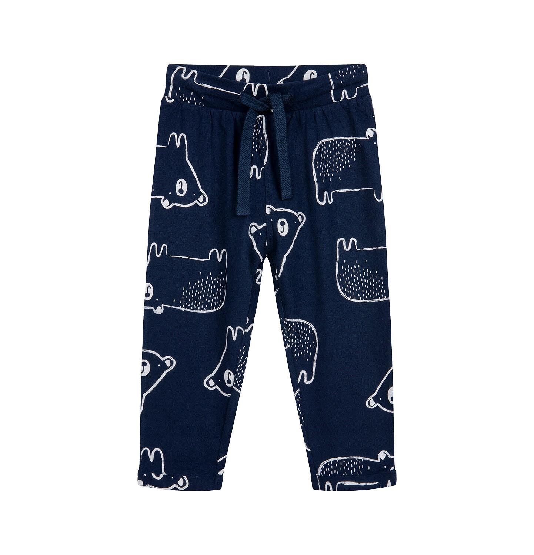 Endo - Spodnie dresowe dla dziecka do 2 lat, w misie, granatowe N04K020_1