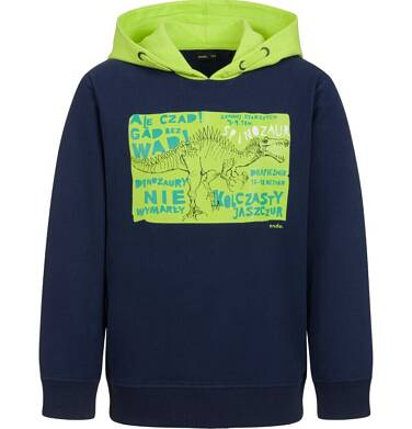 Bluza dla chłopca, z kontrastowym kapturem, granatowa, 9-13 lat C04C023_1