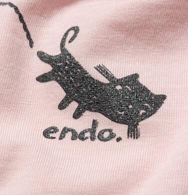 Endo - T-shirt z krótkim rękawem dla dziewczynki, z kotami, różowy, 2-8 lat D05G106_1,2