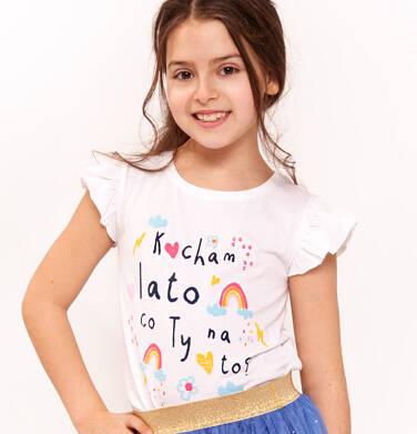 Endo - Bluzka z krótkim rękawem dla dziewczynki 3-8 lat D91G061_1