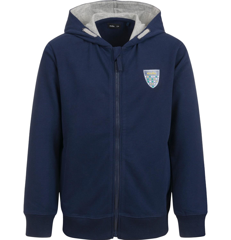 Endo - Bluza z kapturem dla chłopca, granatowa, 9-13 lat C04C026_1
