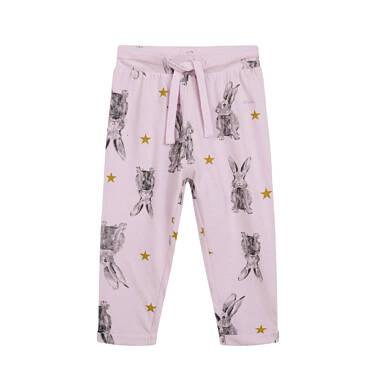 Endo - Spodnie dresowe dla dziecka do 2 lat, różowe N04K026_1 15